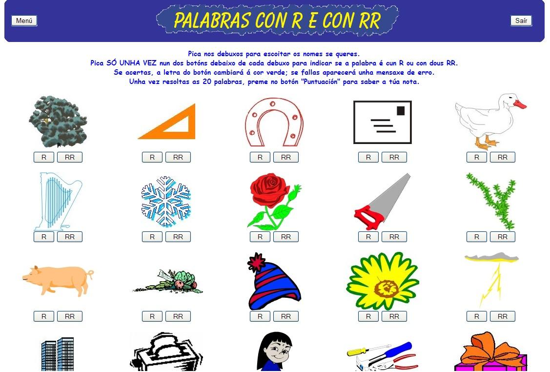 Palabras con r y con rr recurso educativo 41832 tiching for Habitacion wordreference