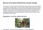 Stories of those affected by climate change | Recurso educativo 77529